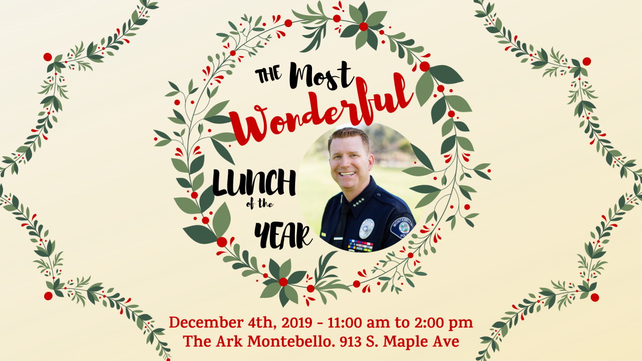 Annual Holiday Lunch and Toy Drive Hosted by Chief Brad Keller