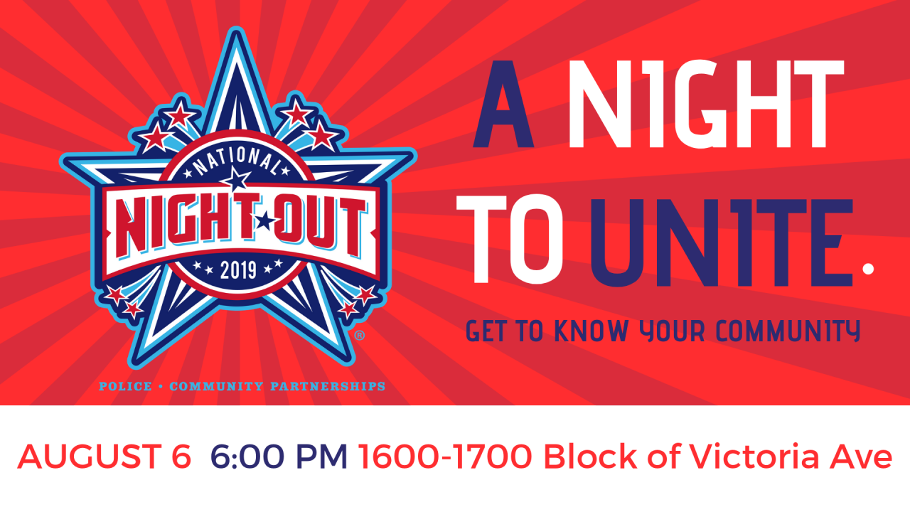 National Night Out 2019 - Applications Available
